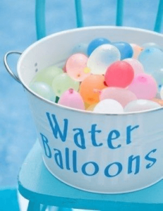 Fun with water balloons