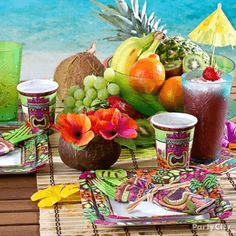 Island-inspired tablescaping