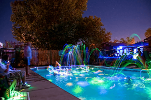 Glowing Pool party