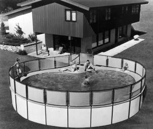 Vintage Kidney Shaped Pool