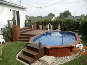 The Pool Adjusted with The Floor Level of The House